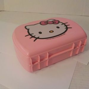 Hello Kitty Accessories - Hello Kitty Lunch Box Plastic Pink Vintage